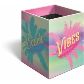 *53702 ÍRÓSZERTARTÓ négyzet alakú Lizzy Good Vibes Beach21