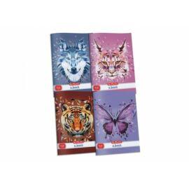 *53968 FÜZET A4 HERLITZ vonalas 81-32 Wild Animal