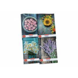 *54088 FÜZET A4 HERLITZ kockás 87-32 Flower