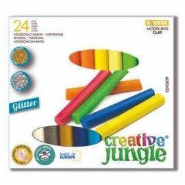 *54098 GYURMA Creative Jungle szines 24db-os/ 2db glitteres /  340gr