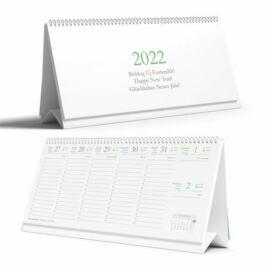 *54463 NAPTÁR asztali pd  Eco 2022 karton háttal