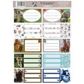 FÜZETCIMKE T-Creativ mintás 10db /1iv (Animals'21, N13035TAN)