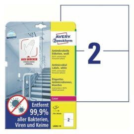CÍMKE Antimikrobiális fólia 210x148mm fehér 10 lapos