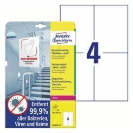 CÍMKE Antimikrobiális fólia 105x148mm fehér 10 lapos