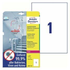 CÍMKE Antimikrobiális fólia 210x297mm átlátszó 10 lapos