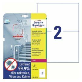 CÍMKE Antimikrobiális fólia 210x148mm átlátszó 10 lapos