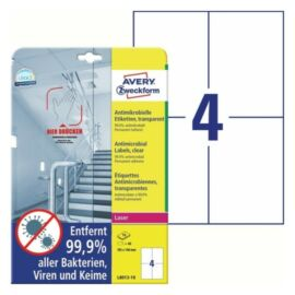 CÍMKE Antimikrobiális fólia 105x148mm átlátszó 10 lapos