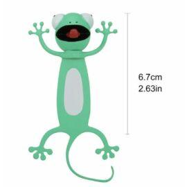 KÖNYVJELZŐ műa. 3D állatfigurás (gekko, 3)