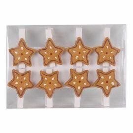 CSIPESZ karácsonyi mézeskalács csillag 3cm   468244