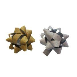 DÍSZÍTŐCSILLAG közepes 60mm NIFTY glitteres arany, ezüst