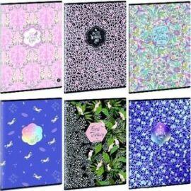 FÜZET A4 ARS UNA kockás extra kapcsos 87-40 Floral, Wonder (Wonderland-Mix, A16065AWM925)
