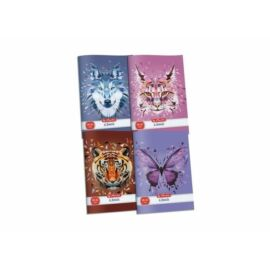 FÜZET A4 HERLITZ kockás 87-32 vegyes minta20 (wild animals, 09545443)