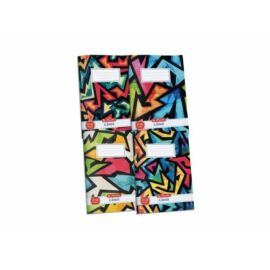 FÜZET A4 HERLITZ kockás 87-32 vegyes minta20 (neon art, 09091190)