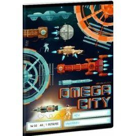 FÜZET A5 ARS UNA kockás  27-32 vegyes minta (Omega City, A16855AOC908)