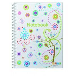 FÜZET spirál A4 ANCOR Notebook vonalas PP 120lap színreg.