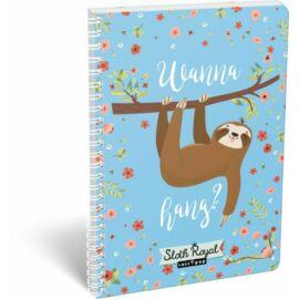 FÜZET spirál A4 LIZZY kockás 70l Lollipop (Sloth Royal, 19637138)