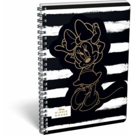 FÜZET spirál A4 LIZZY kockás exkluzív Minnie Mouse Fashion-20 (Black Stripes, 20739202)