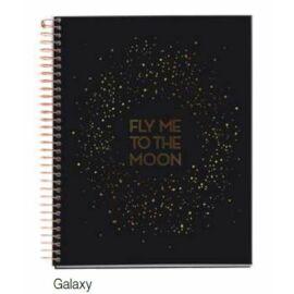 FÜZET spirál A4 MQ Golden B Galaxy  4reg. = keményb. 4*30lap  48008