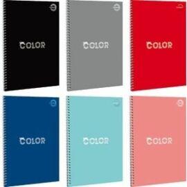 FÜZET spirál A4 T-Creativ UniColor kockás 70lap egyszínű