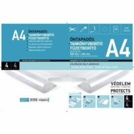 FÜZETBORÍTÓ/Tankönyvborító A4 víztiszta öntapadós LIZZY  10db/cs