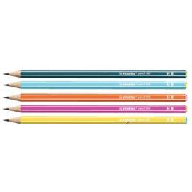 GRAFIT STABILO 160 színes csíkos hatszögű HB