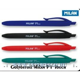 Golyóstoll MILAN P1 Touch gumírozott test alap szinek (fekete, F01175200)