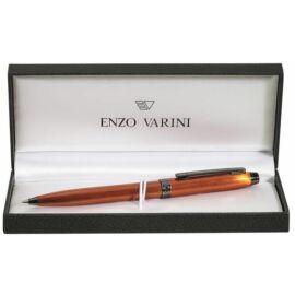 """Golyóstoll fém  Enzo Varini """"Irisé"""" narancssárga króm kl.  SE825229K+doboz"""