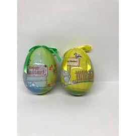 HÚSVÉTI TOJÁS fényes zöld Happy Easter 10cm