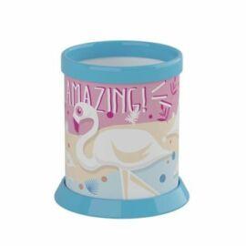 ÍRÓSZERTARTÓ pohár ICO Flamingó  Műa.