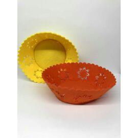 KASPÓ  sárga/nari filc virágmintás