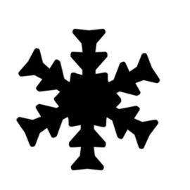 KREATÍV LYUKASZTÓ 16mm karos dekorgumihoz is CRE ART (hópehely2, TLYFO327)