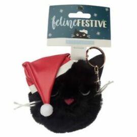 KULCSTARTÓ/TÁSKADÍSZ plüss karácsonyi cica/panda