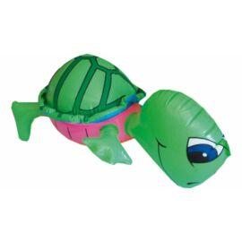 LUFI Party állat teknős 40cm sárga-zöld-kék-rózsaszín, csipogós