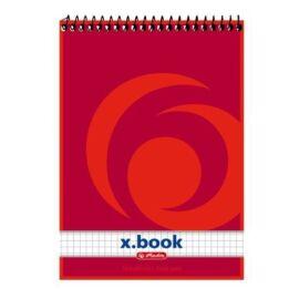 NOTESZ spirál A5 HERLITZ 50lap x.book =/# (kockás, 00110536)
