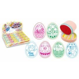 NYOMDA 2D húsvéti CRE A tojás alakú önfestékezős 45*35*40mm 6 minta