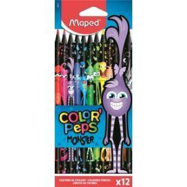 "SZÍNES CERUZA 12 MAPED ""Color'Peps Monster"""