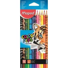 """SZÍNES CERUZA 12 MAPED """"Color'Peps Animal"""" háromszögű"""