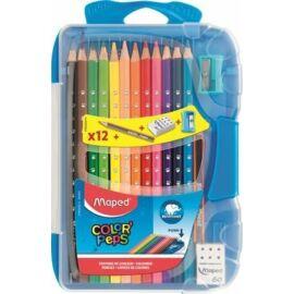 SZÍNES CERUZA 12 MAPED ColorPeps trió SMART BOX+radír, hegyező