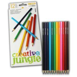 SZÍNES CERUZA 12 SAKO Creative Jungle mártott Standard
