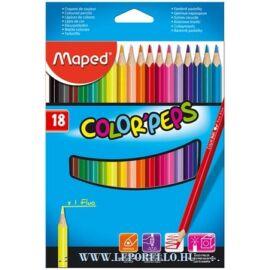 SZÍNES CERUZA 18 MAPED ColorPeps trió+/1neon/
