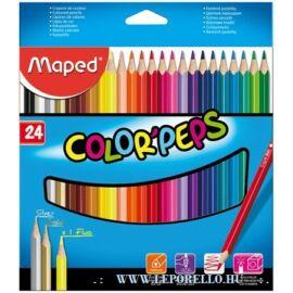 """SZÍNES CERUZA 24 MAPED """"Color'Peps"""" háromszögű"""
