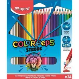 """SZÍNES CERUZA 24 háromszögletű  MAPED """"Color'Peps Strong"""""""