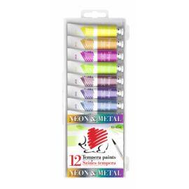 TEMPERA 12  ICO Süni 12*12ml Metál és Neon színek
