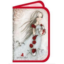 TOLLTARTÓ 2 klapnis Santoro / Gorjuss 335-72 14*21*3,5cm (Rose Tea, TTATT3357)