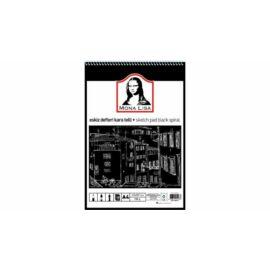 VÁZLATFÜZET A4 40db fekete színű lap 150gr MONA LISA