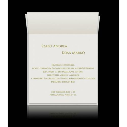 Esküvői meghívó nyomtatás grafikai szerkesztéssel (min. 25db-ot kell rendelned)