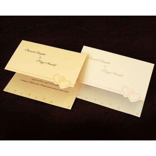 Esküvői meghívó CE8025 fehér vagy krém