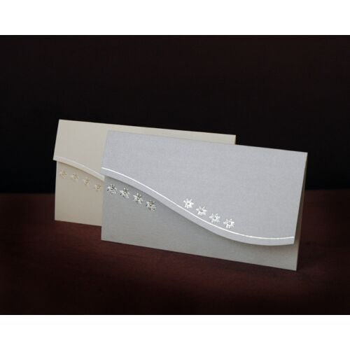 Esküvői meghívó CE8026 ezüst vagy krém