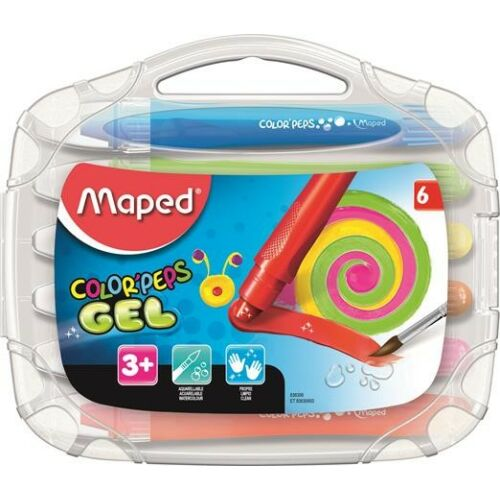 """ZSÍRKRÉTA 10 MAPED zselés, kitekerhető """"Color Peps""""  átl.doboz"""