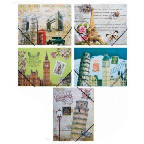GUMIS DOSSZIÉ A4 karton városos School Art